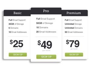 Web Hosting-Upgrade Plans